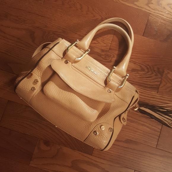 Chopard Handbags - CHOPARD cream calf skin leather satchel.